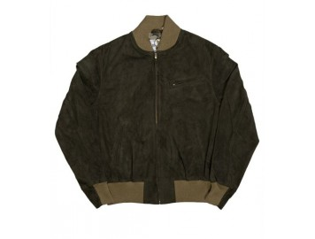 Baseball Jacket Dark Green suede