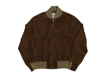 Baseball Jacket Rust suede
