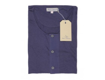 Button Facing 67/33 Berlin Blue short sleeve