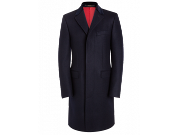 Crombie Retro coat navy